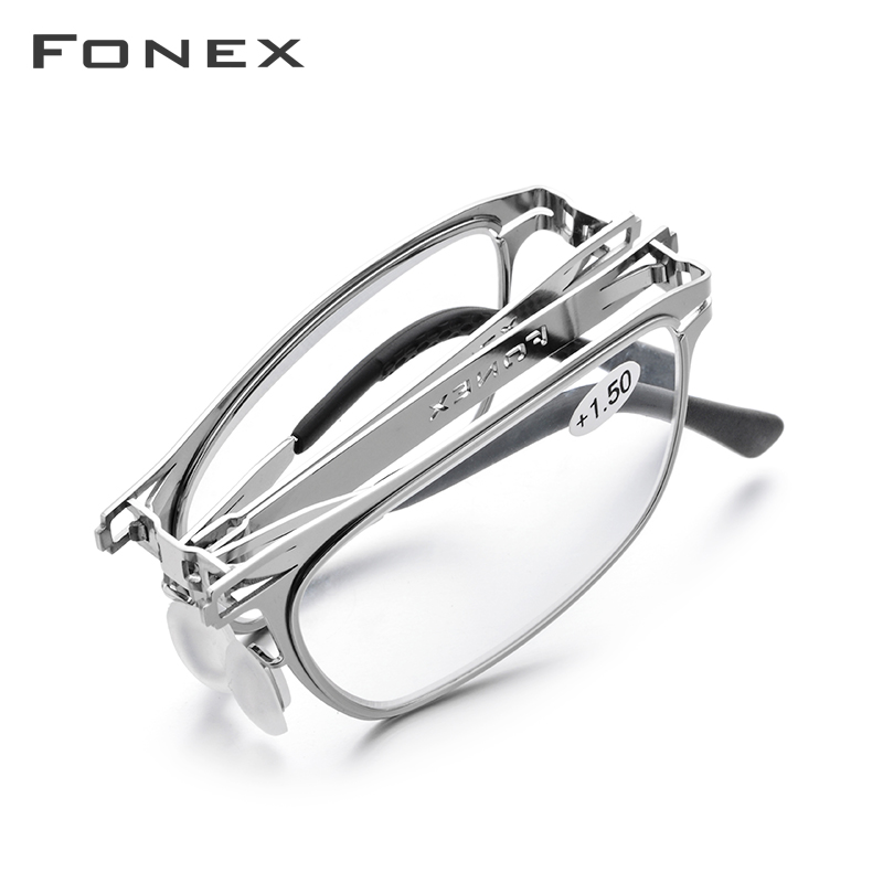 High Quality Folding Reading Glasses Men Women Foldable Presbyopia Reader Hyperopia Diopter Eyeglasses Screwless Eyewear