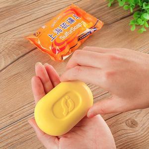 85g jabón azufre Shangai Baño-antibacterias y eliminación de ácaros acné, Psoriasis seborrea Eczema suministros de baño
