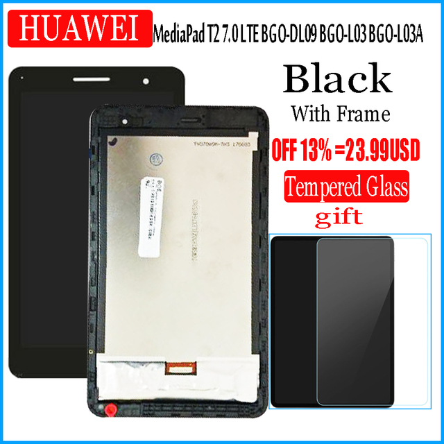 For Huawei MediaPad T2 7.0 LTE BGO DL09 BGO L03 BGO L03A LCD Display and with Touch Screen Digitizer Assembly