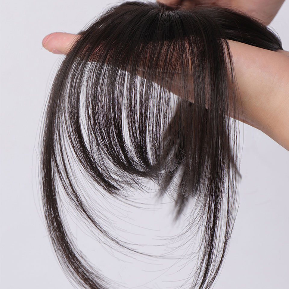 накладные волосы челка накладная волосы на заколках шиньоны для волос Имитация челок на заколках для волос frange a клип аксессуары для наращи...