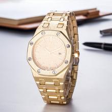 Top Luxury Brand Mens Quartz Watch Business Day-Date Diamond Watches