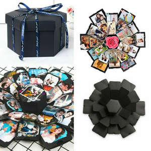 Surprise Explosion Box DIY Memory Photo Album Scrapbook Anniversary Girl Gift