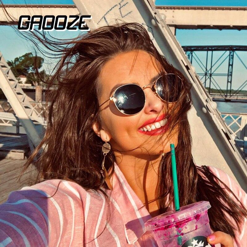 GAOOZE Sunglasses Women/Men Round Glasses Ladies Branded Fashion Sunglasses Retro Women's Sunglass Vintage Oculos LXD320