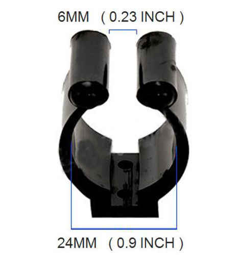 AB Tools 30mm Polyamide Tube Storage Clip Paddle Boat Hook Pole Tool by Plastimo