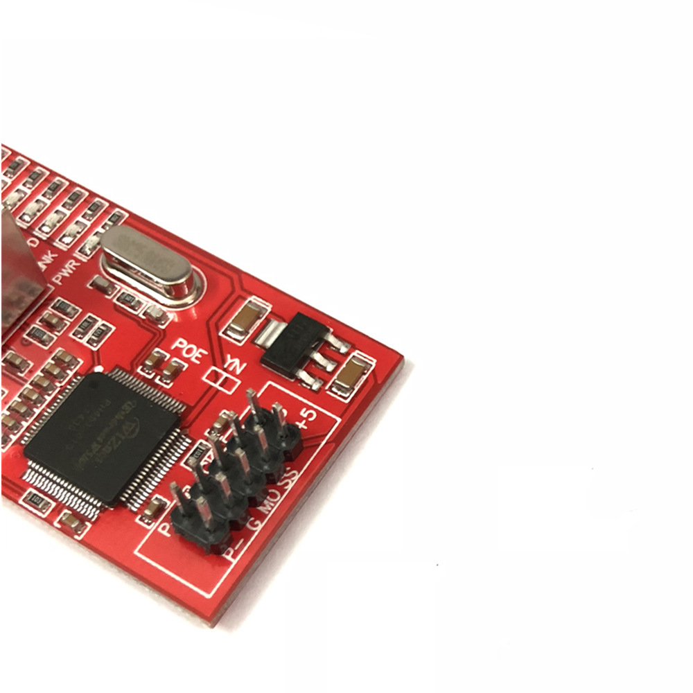 OULLX Mini W5100 LAN Ethernet Shield Network Board Module R3 W5100 3.3V Compatible For Ethernet UNO Mega 2560 2