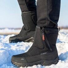 Short Boots Shoes Couple Warm-Side Cold-Resistance Outdoor Plus Thick Winter Men Cotton