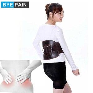 Image 1 - BYEPAIN Cinturón de Soporte Lumbar de alivio del dolor de espalda baja de tirantes para cuero para mujeres y hombres correas de cintura ajustables para ciática, Scolios