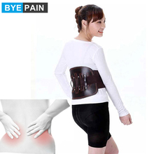 BYEPAIN cuir bas du dos orthèse soulagement de la douleur ceinture de soutien lombaire pour les femmes hommes sangles de taille réglables pour sciatique, Scolios