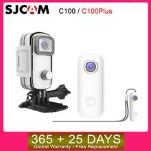 SJCAM C100 / C100Plus Mini kamera z kciukiem 1080P30FPS / 2K30FPS H.265 12MP 2.4G WiFi 30M wodoodporna obudowa Action Sport kamera DV