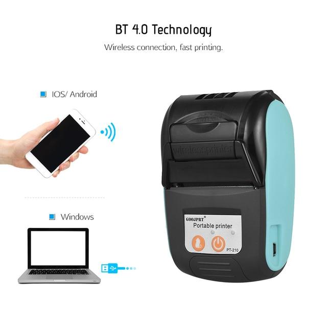 Wireless Mini 58mm Bluetooth Printer Portable Thermal Receipt Printer Mobile Phone Android iOS PC Pocket Bill Impresoras 3