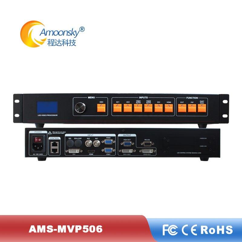 P8 uso de tela led ao ar livre ams-mvp506 suporte de processador de parede vídeo sem emenda para publicidade de tv led ao ar livre