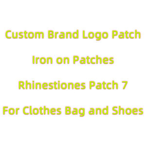 Fashion Brand Logo Patch 3D Rhinestiones Patches iron on letters Badges Stickers DIY heat transfer Patches for Clothing Aqqlique
