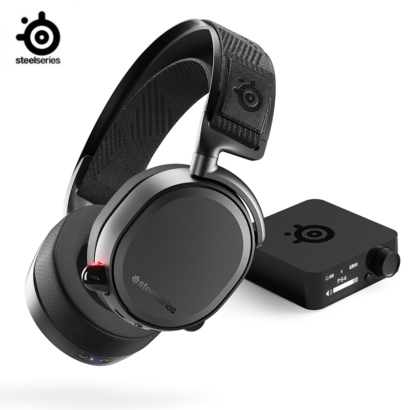Auriculares inalámbricos SteelSeries Arctis Pro sin pérdidas de alta fidelidad inalámbricos + Bluetooth para PS4 y ordenador QI 10W carga rápida 3 en 1 cargador inalámbrico para Iphone 11 Pro cargador Dock para Apple Watch 5 4 Airpods Pro soporte de carga inalámbrica
