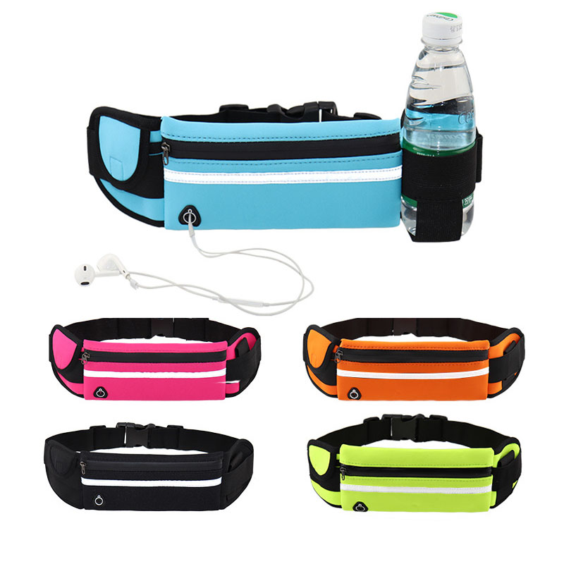 Universal 6.5'' Waterproof Sport Waist Bag Belt Pouch Running Universal Mobile Phone Pocket Unisex Case Arm Band For Samsung S10