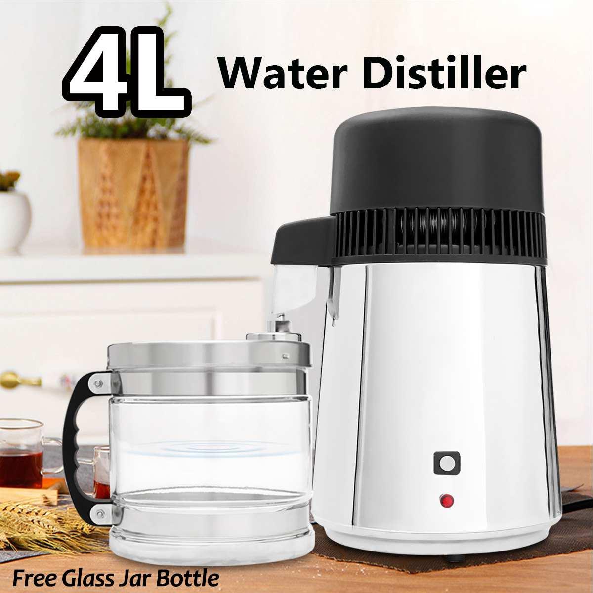 750W 4L Water Distiller Household Distilled Pure Water Machine Distillation Purifier Filter Stainless Steel Water Filter AU Plug