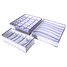3PCS/SET Foldable Underwear Organizer Bra Tie Socks Clothes Storage Box Container Wardrobe Closet Drawer Dividers Case