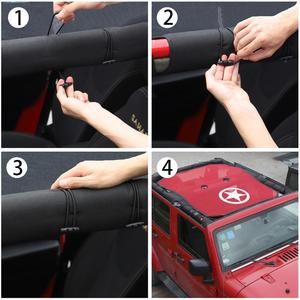 Image 4 - SHINEKA Top Sunshade Mesh Car Cover Roof UV Proof Protection Net for Jeep Wrangler JK 2 Door and 4 Door Car Accessories Styling