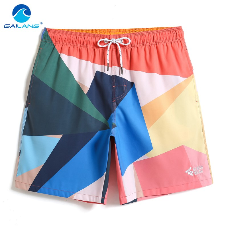 Gailang Men's Bathing suit Sexy Colorful joggers Swimsuit Quick dry surfing hawaiian bermudas briefs   Board     shorts   Swimwear