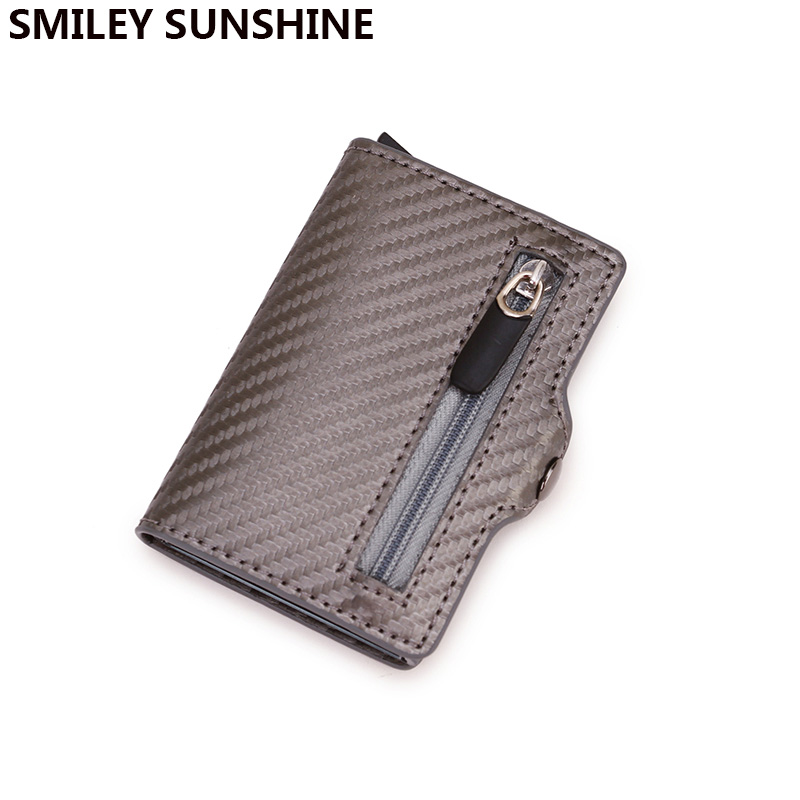 Rfid Card Holder Wallets Men Carbon Fiber Slim Wallet Coin Money Bag Male Thin Mini Magic Wallet Small Money Bag Wolet For Man