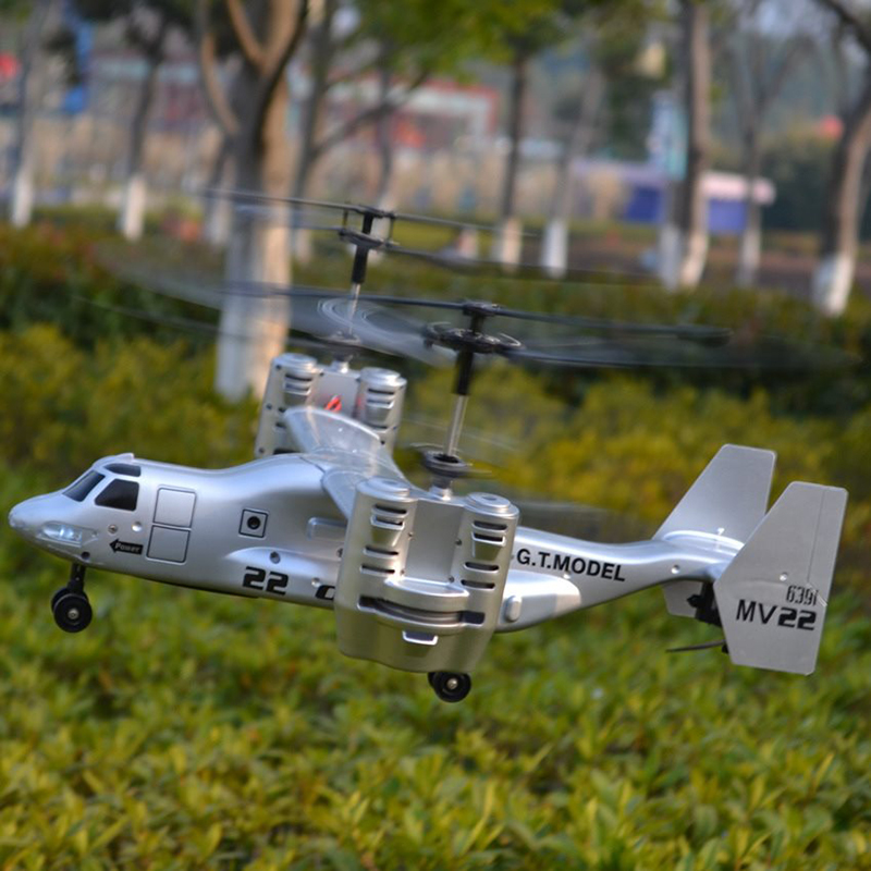 2.4Ghz 4.5CH RC 3D Osprey Helicopter Radio Control RTF Ready To Fly With Gyro With Light Rc Military Helicopter Toy