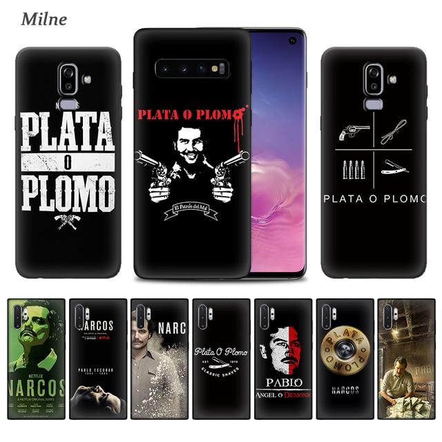 Pablo Escobar etui do Samsung Galaxy S20 S10 5G S10e S9 S8 S7 uwaga 9 10 Plus J6 J8 2018 miękkie czarna okładka telefon Tampa