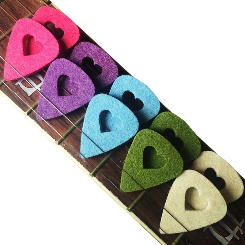Hot HG-Ukulele Picks Multi-Color Felt Picks Guitar Picks For Guitar Bass Ukulele Mandolin Banjo,10 Pieces