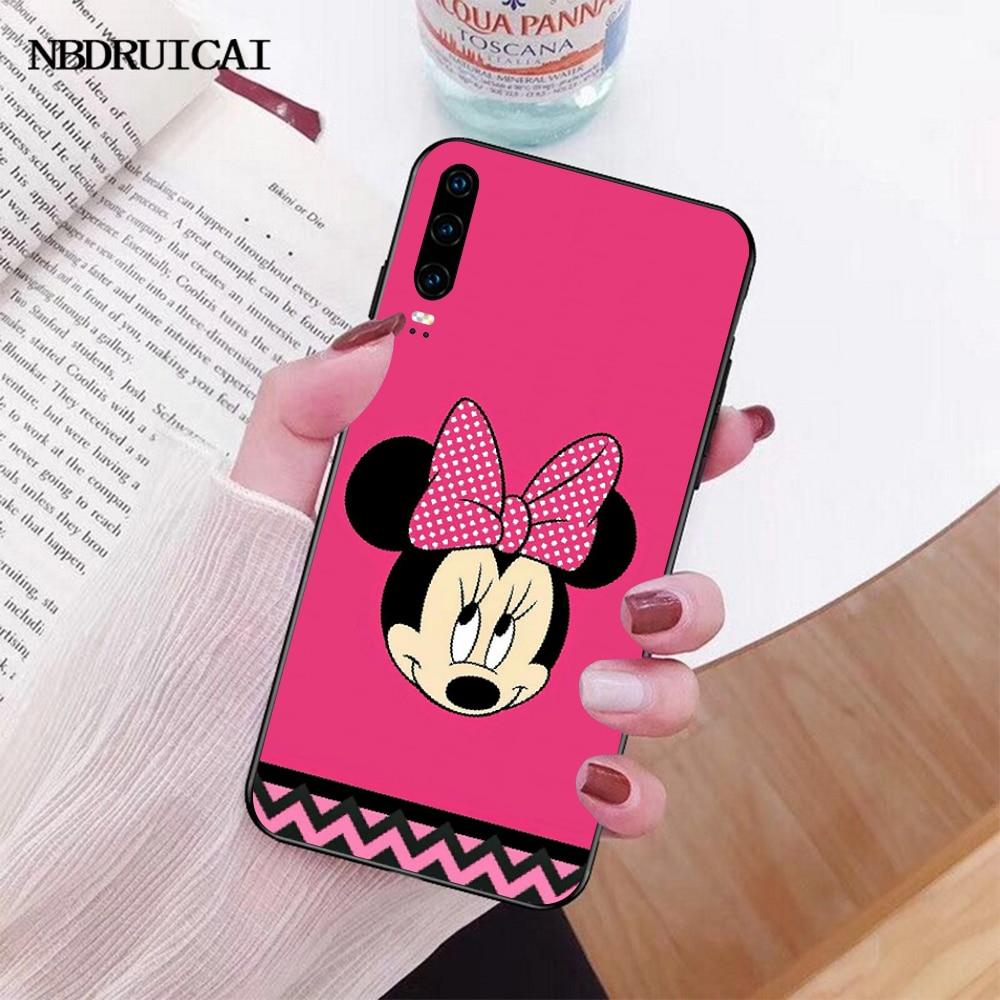 NBDRUICAI rosa minnie Mouse girly FAI DA TE Cassa Del Telefono di Lusso per Huawei P30 P20 P10 P9 P8 Compagno di 20 10 Pro lite