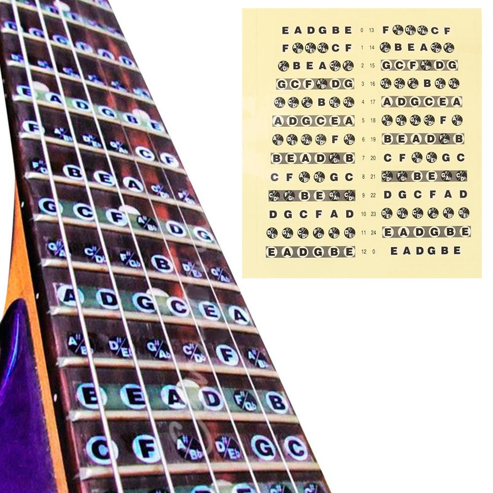 Guitar Fretboard Note Lable Stickers Fret Map Decals Learn Fingerboard Neck Note New For 2020