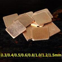 DIY Kupfer Shim 15*15mm Kühlkörper thermal Pad für Laptop GPU CPU VGA Chip RAM Kupfer kühlkörper reparatur grafikkarte kupfer Shim