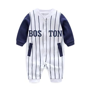 Baby Boy ubrania kombinezon w paski wiosenne ubranka dla noworodków Cartoon ciepły Romper bawełniany kostium śpioszki dla niemowląt ubranka chłopięce dla niemowląt tanie i dobre opinie COTTON Dla dzieci O-neck Swetry Pajacyki Boys baby Pełna sg032 Pasuje prawda na wymiar weź swój normalny rozmiar