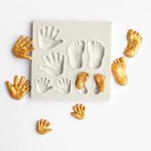 Fondant Cake Soap-Molds Decorating-Tool Bakeware Chocolate-Mould Sugar-Craft Hand-Print