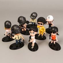 цена на 8pcs/lot PUBG Playerunknown's BattleGrounds Q Version PVC Action Figures Toys Dolls Christmas Birthday Gifts Figures toy Cute