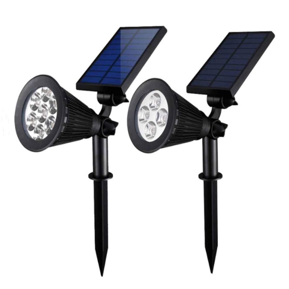 LED Solar Spotlights Outdoor Solar Lights Waterproof Garden Landscape Street Lawn Lamp Warm White RGB Spot Light For Dark Corner