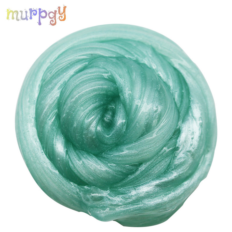 80ml Pearl Powder Slime Glue Crystal Slime Fluffy Multiple Colour Clay Snow Mud Slime Putty Soft Clay Plasticine Kit For Kids
