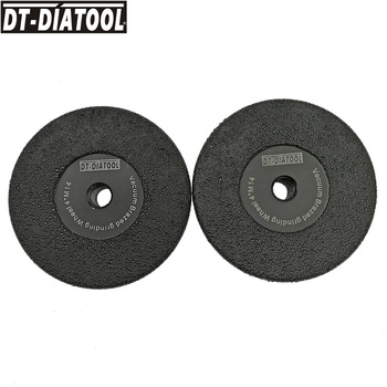 DT-DIATOOL 2pcs M14 Vacuum Brazed Diamond Flat Grinding Wheel Grit #30/40 For Grinding Shaping Beveling Granite Marble Concrete 2pcs dia105mm vacuum brazed diamond flat grinding wheel m14 30 diameter 4 shaping beveling wheel disc for granite marble
