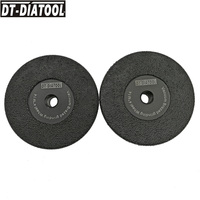 DT DIATOOL 2pcs M14 Vacuum Brazed Diamond Flat Grinding Wheel Grit #30/40 For Grinding Shaping Beveling Granite Marble Concrete