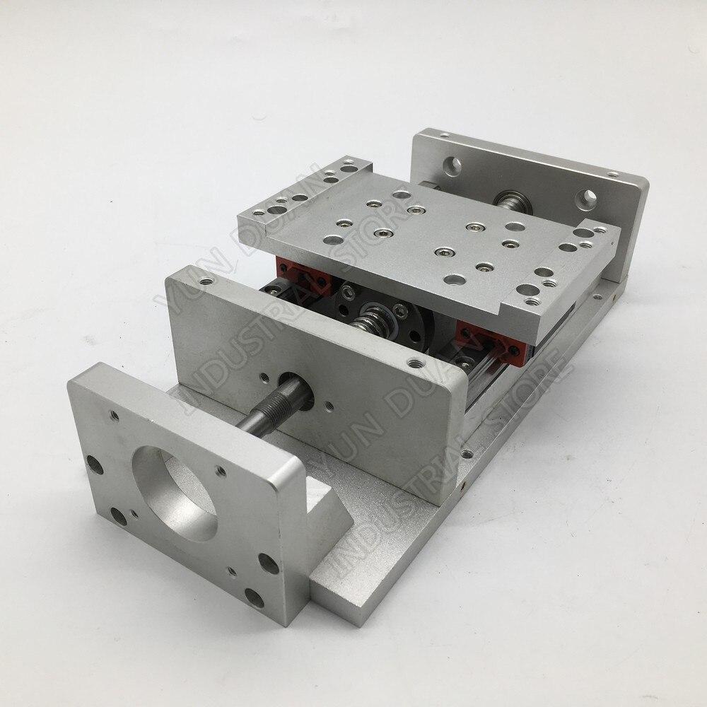 Charge lourde XYZ axe croix 100MM 200MM course Module électrique Table coulissante glissière linéaire étape vis à billes HG15 Guide plate-forme CNC