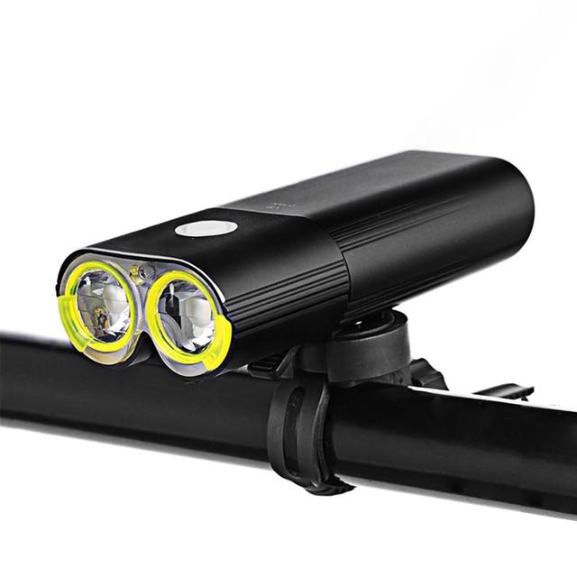 Bicicleta profissional ipx6 à prova dwaterproof água 1600 lumens luz ciclismo power bank acessórios da bicicleta usb recarregável lanterna lâmpada