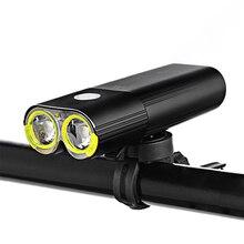 אופני מקצועי IPX6 עמיד למים 1600 Lumens אור רכיבה על אופניים כוח בנק אופניים אביזרי USB נטענת פנס מנורה