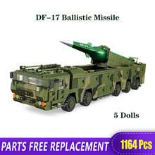 XB The Technic Military WW2 DF-17 Ballistic Missile Tank Model Building Blocks Bricks Toys With Figure Christmas Gifts xingbao technic new military series 06033 the uk challenger2 main battle tank model blocks bricks toys figure christmas gifts