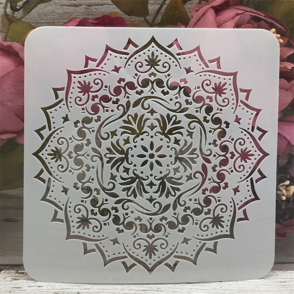 Mandala Layered Geometry Design 8 DIY Layering Stencils Painting Scrapbook Coloring Embossing Album Decorative Template