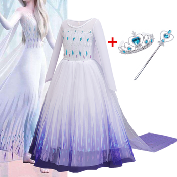 Girls Sequins Dress For Kids Halloween Cosplay Party Long Tails Costume Disfraz Children Fancy Christmas Robe Fille