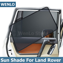 Wenlo 4 pçs pára sol janela lateral do carro para land rover discovery 3 4 5 evoque range rover sport freelander 2 cortina carro