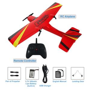 Image 4 - Z50 RC 비행기 2.4G 무선 RC 공기 비행기 EPP 거품 소년 아이를위한 자이로 글라이더 300mAh RC 비행기 무선 제어 항공기 장난감을 건축했다