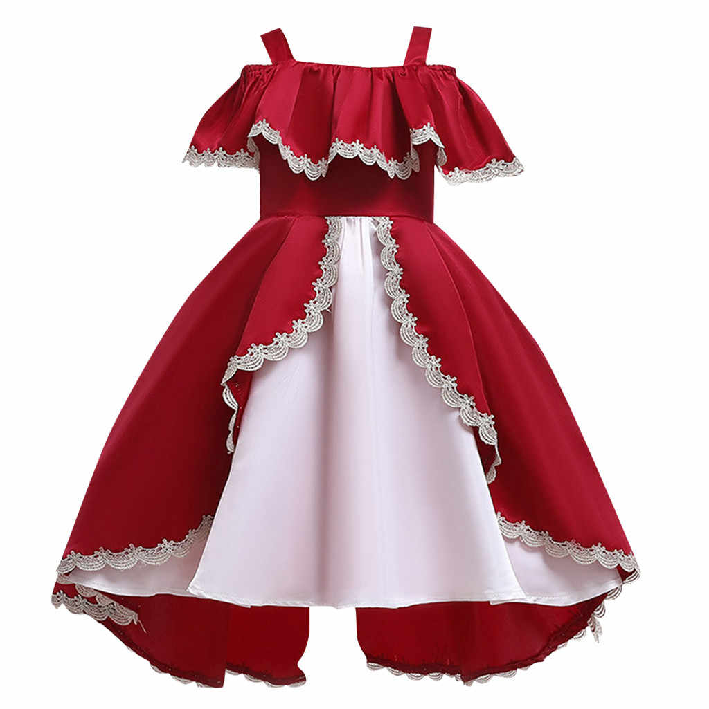 Vestido da menina de vestido vestidos crianças vestidos para meninas vestido infantil vestido de natal dia das bruxas vestido de menina Casual Patchwork Z4