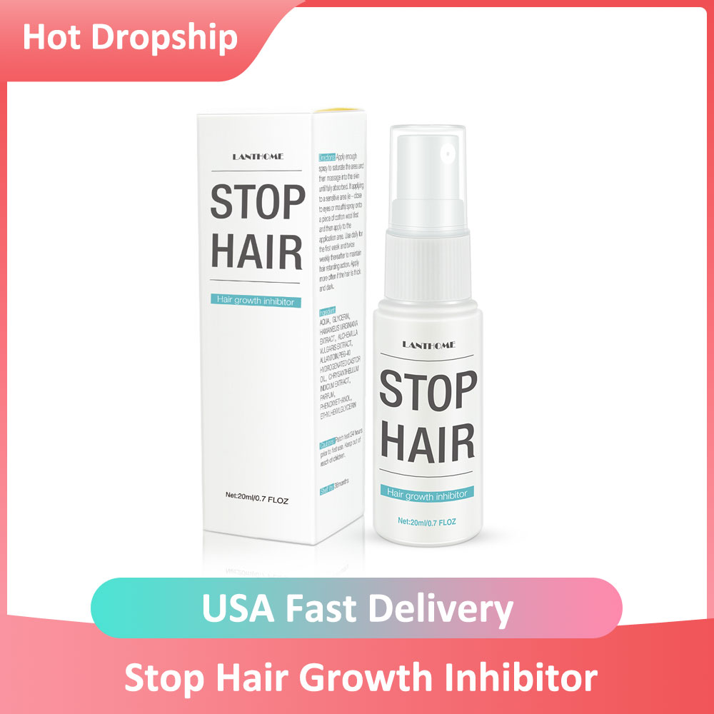 Permanent Stop Hair Growth Inhibitor Hair Repair Body Hair Removal Treatment Spray Facial Hair Remover Aftershave For Women
