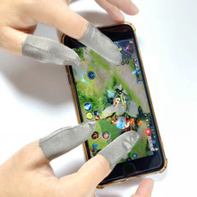 Anti-slip and anti-sweat professional touch screen thumb finger sleeve for mobile gaming gloves