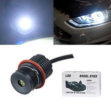 цена на 10W LED Car Angel Eye Lights Bulb Fit for BMW 1 5 7 Series E87 E39 E60 E61 E63 E64 E65 E66 E83 E53 Car LED Angel Eyes