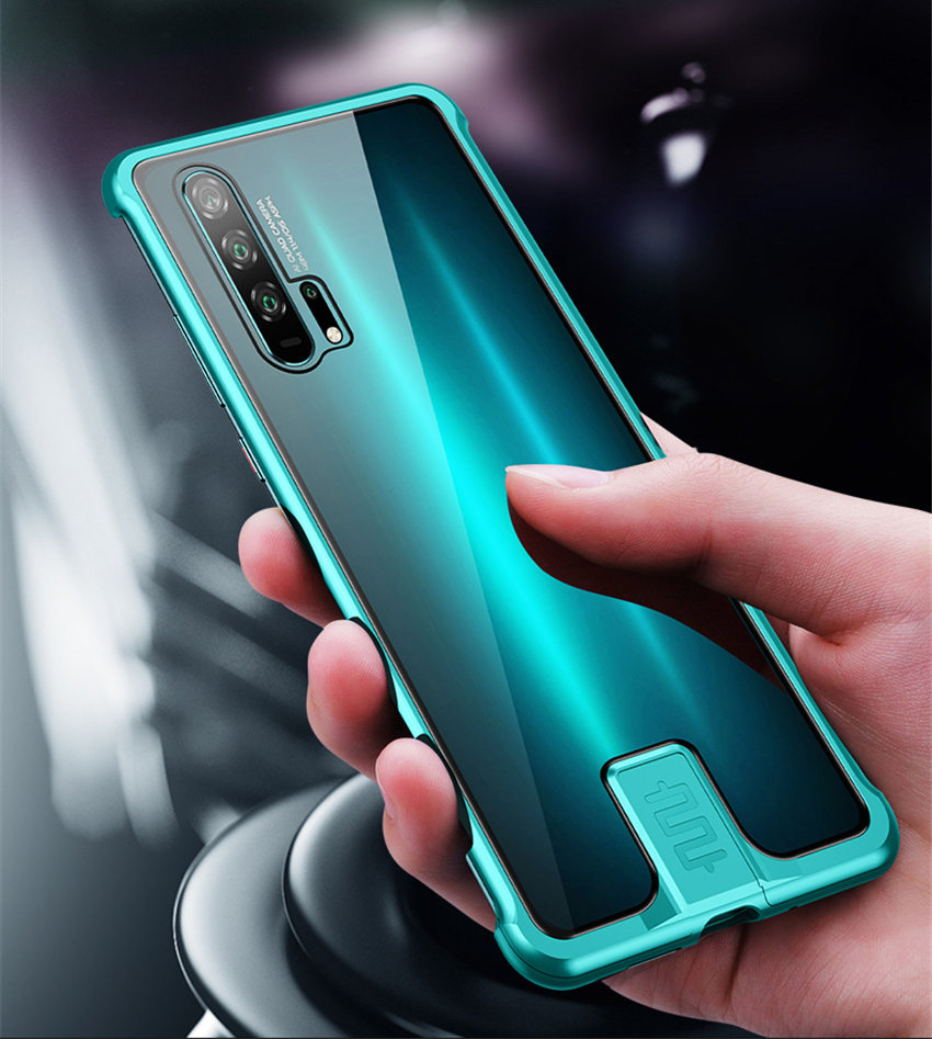 R-just Borderless Series Metal Frame Phone Case For Huawei Honor 20 Protect Case Glass Back Cover Cases For Huawei Honor 20 Pro (9)