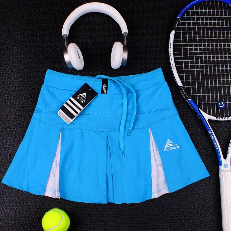 Спортивная теннисная юбка средней длины летняя быстросохнущая Дамская Сплит белая размера плюс тонкая фитнес Йога тонкая Беговая юбка